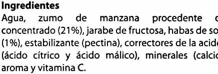 Bebida de soja con zumo de manzana - Ingredients