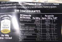 Croquetas de Queso Picon D.O. Bejes-Tresciso - Información nutricional - es