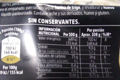 Croquetas de Queso Picon D.O. Bejes-Tresciso - Información nutricional