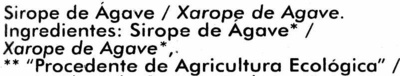 Sirope de agave - Ingrediënten