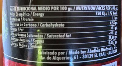 Mermelada Extra de Frambuesa - Voedingswaarden - es