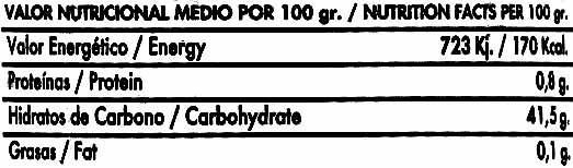 Mermelada Extra de Pimiento Rojo - Voedingswaarden