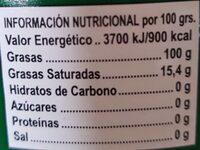 Aceite de oliva virgen extra picual - Nutrition facts - es