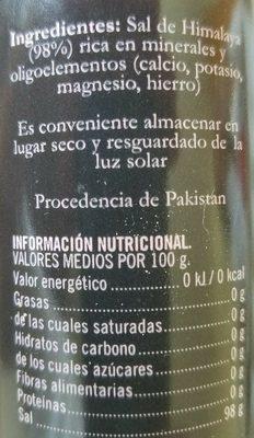 sal rosa del himalaya - Ingrédients
