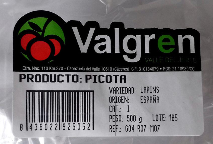 Picota - Ingredients - es
