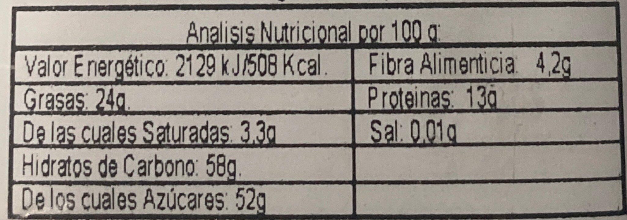 Garrapiñadas de Cacahuete - Nutrition facts - en