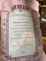 Nicasio Hand Cooked Extra Virgin Potato Chips - Product - fr