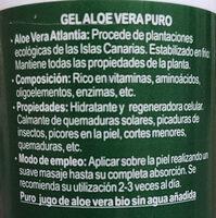 Aloe Vera en gel - Ingredientes - es