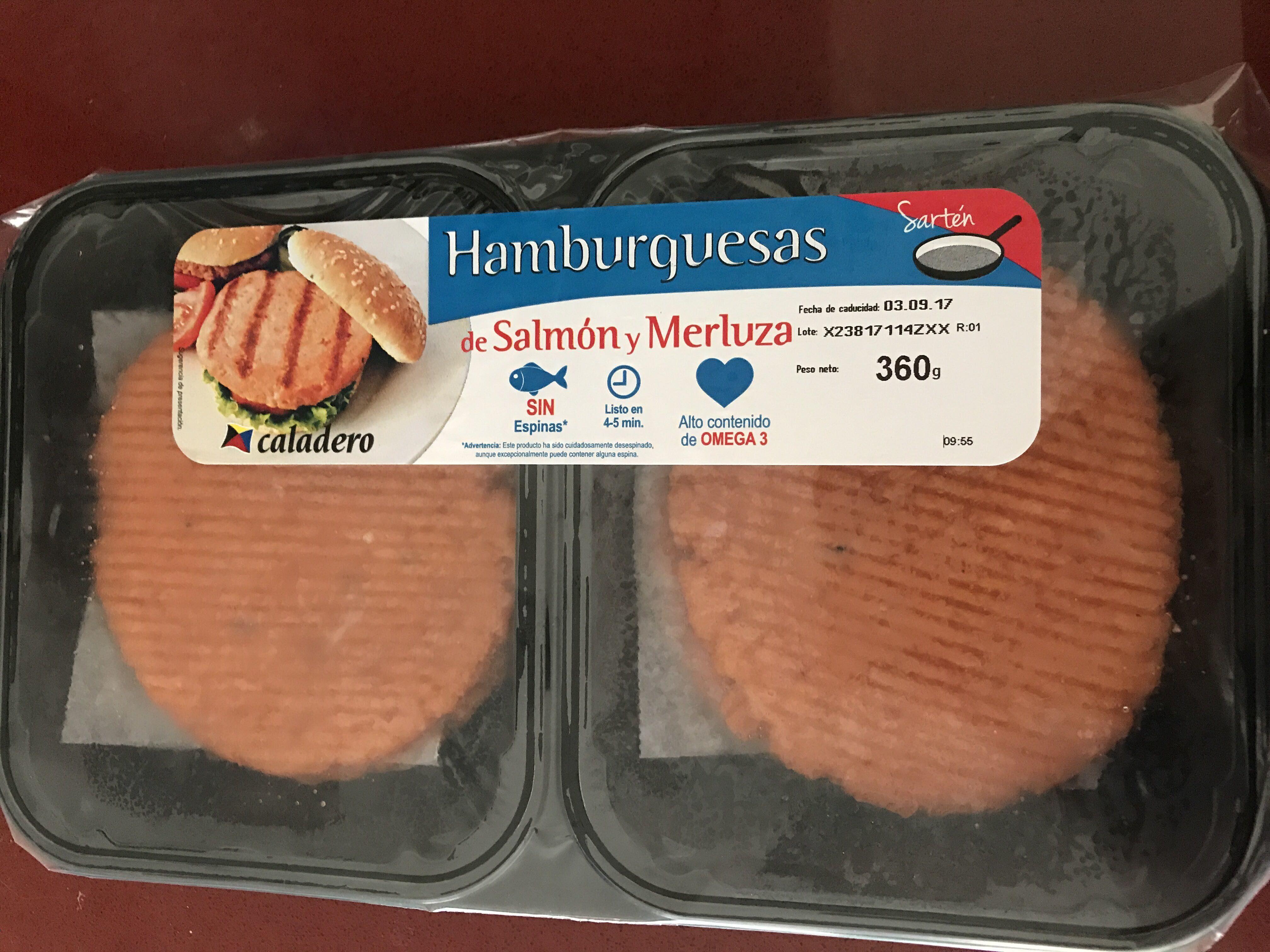 Hamburguesas de salmón y merluza - Product