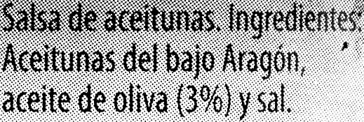 Olivada - Ingredientes