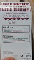 Coco extra - Ingredientes