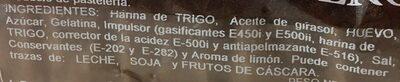 Bizcocho casero - Ingredients - es