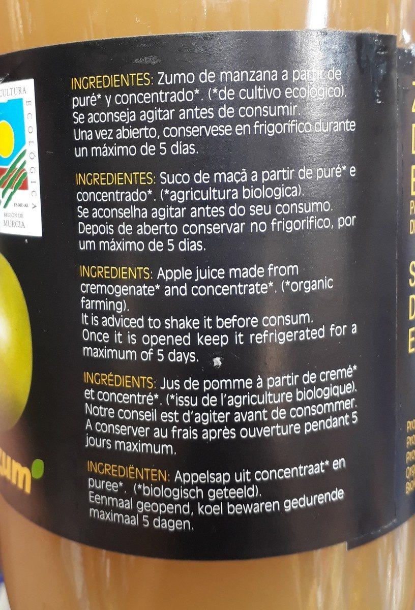 Jus de pomme biologique - Ingredientes