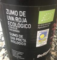 Zumo de uva roja ecologico - Prodotto - fr