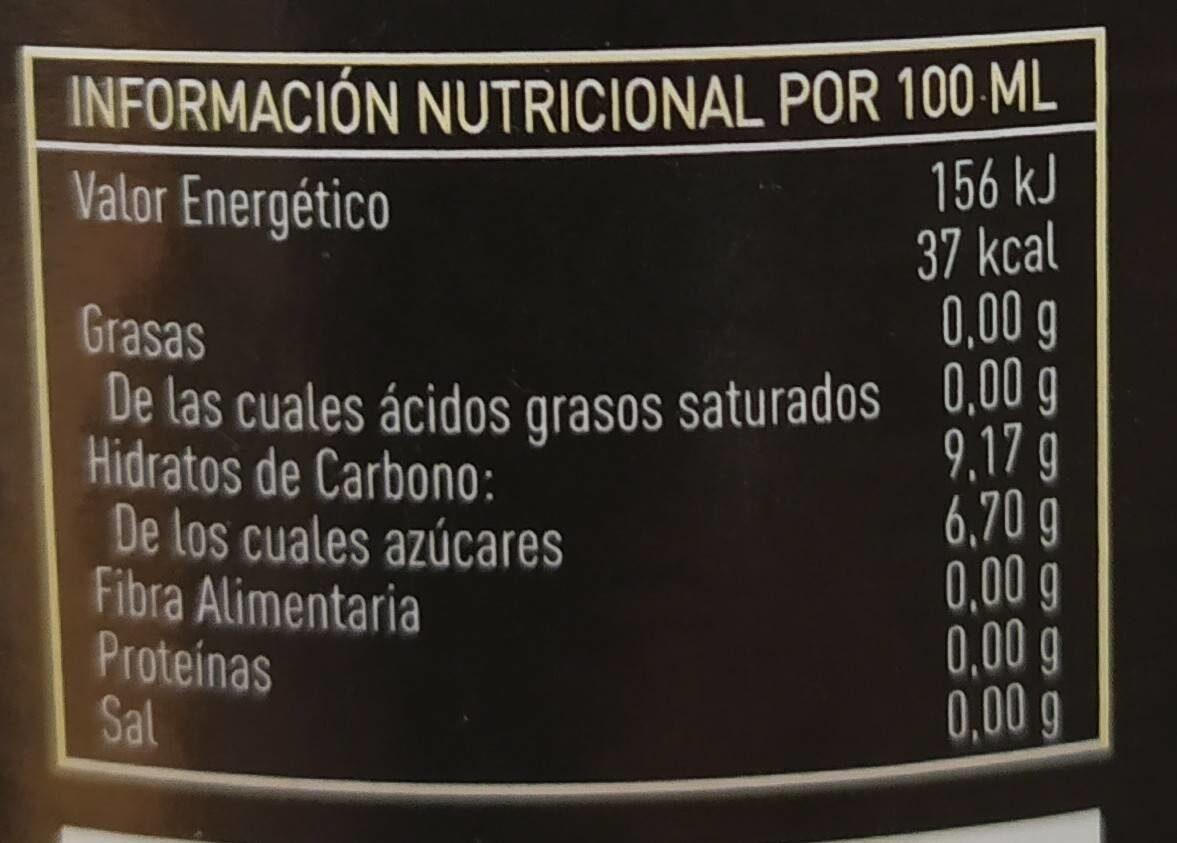 Limonada ecológica - Informations nutritionnelles - es