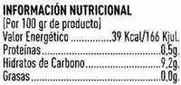Zumo de pomelo ecológico - Nutrition facts - es