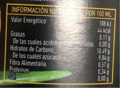 Zumo de melocotón con aloe vera ecológico - Nutrition facts - es