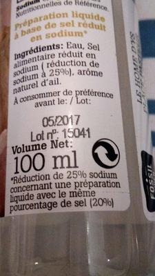 Sel liquide ail - Informations nutritionnelles - fr