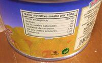 Rodajas de piña en su jugo - Información nutricional