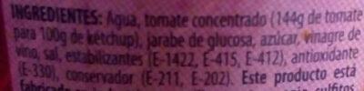 Ketchup - Ingredients - es