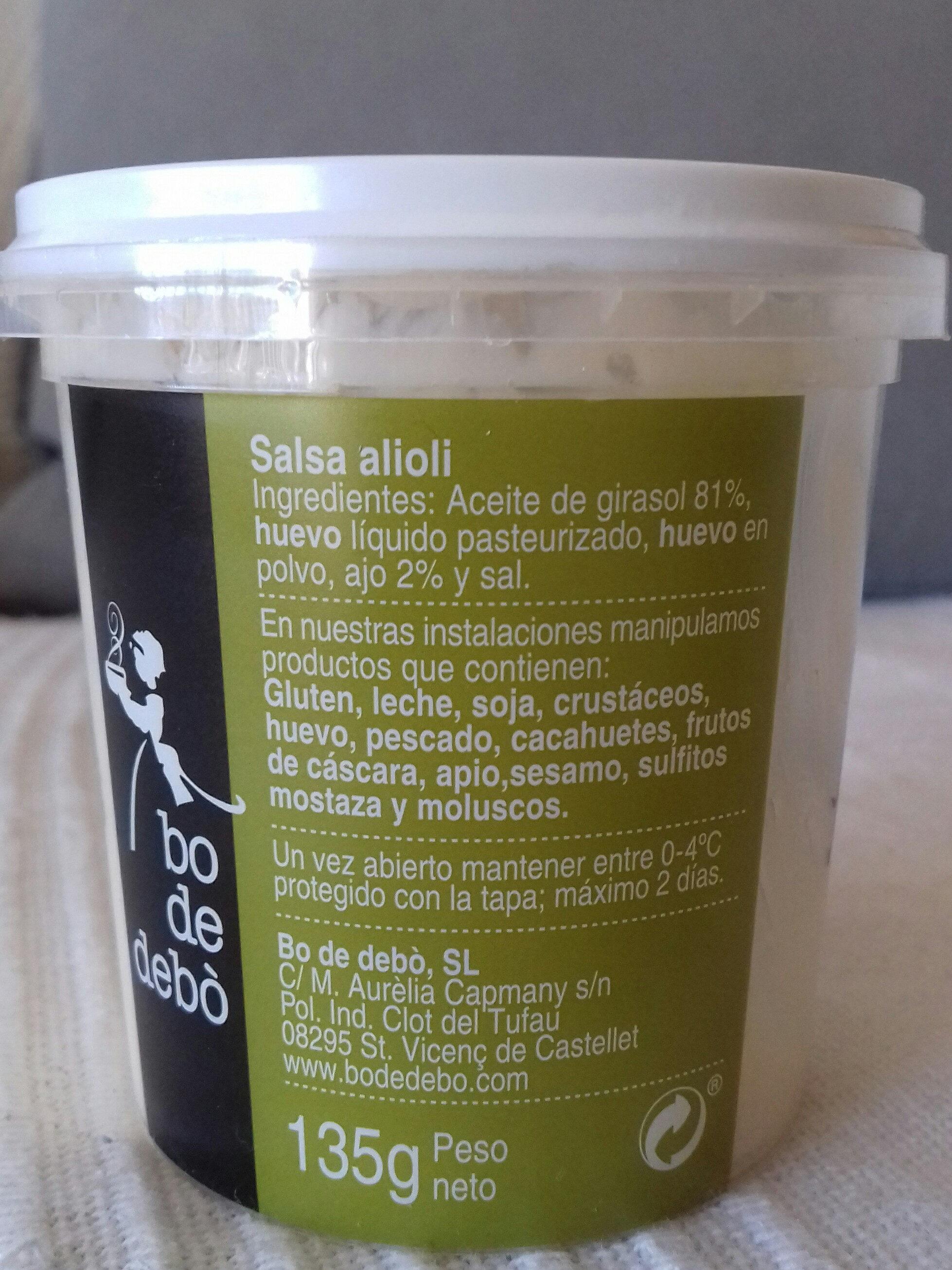 All i Oli - Ingredientes - es