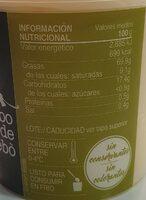 All i Oli - Información nutricional - es