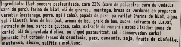 Croqueta casolana de carne (6u) - Ingredients