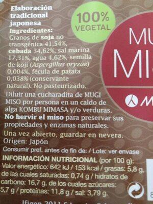 Miso - Ingredients - es