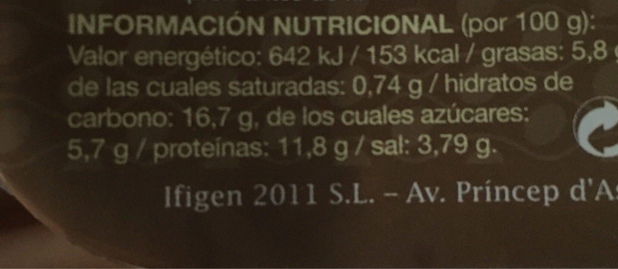Miso - Informació nutricional - es