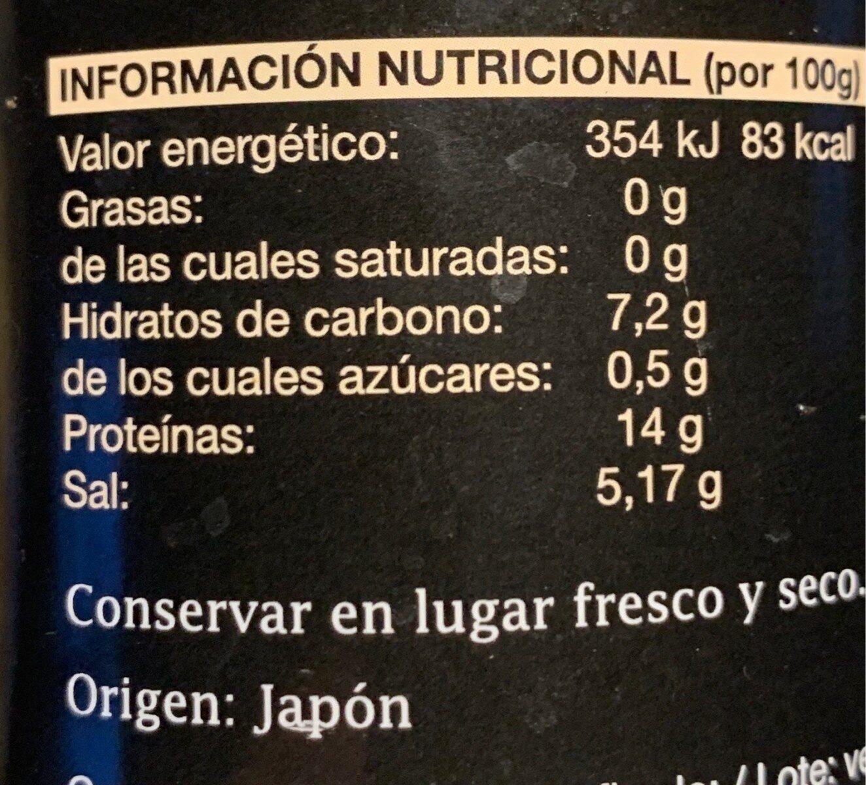 Tamari - Información nutricional - es