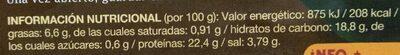 HATCHO  MISO - Informació nutricional - es