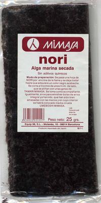 Algas nori deshidratadas en láminas - Producte