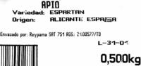 Apio - Ingredientes