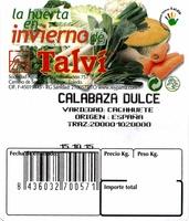 Calabaza - Ingrédients