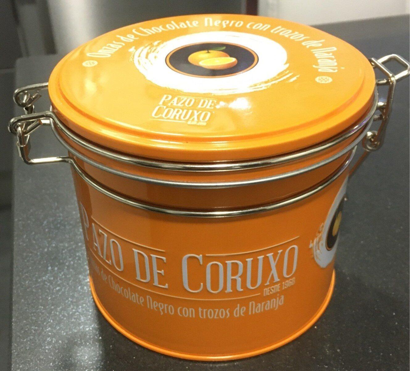 Onzas de chocolate negro y naranja - Producto