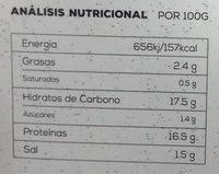 Bio burger vegetal quinoa y borraja - Informació nutricional - es