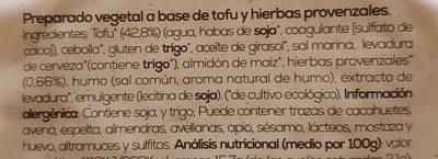 Biotofulonchas provenzal - Ingrédients