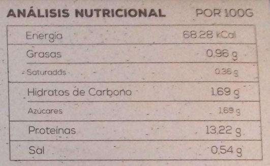 Delicias de soja - Nutrition facts
