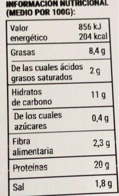 Very burguer - Información nutricional - es