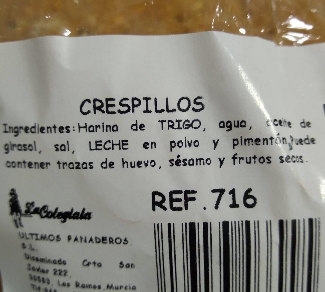 """Crespillos """"la Colegiala"""" - Nutrition facts"""