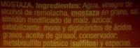 """Salsa de mostaza """"Auchan"""" - Ingrédients - es"""
