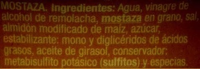 "Salsa de mostaza ""Auchan"" - Ingredients"