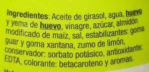 Mayonesa auchan - Ingredients - es