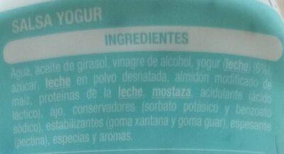 Salsa Yogur - Ingredients - es