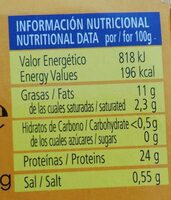FILETES DE CABALLA DEL SUR EN ESCABECHE - Nutrition facts - en
