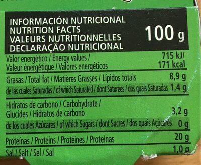MOULES A L'ESCABECHE - Nutrition facts - fr