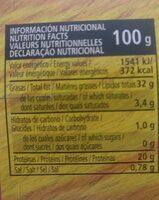Atún en aceite vegetal - Información nutricional - es