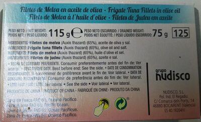 Melva en aceite de oliva - Ingredientes - es
