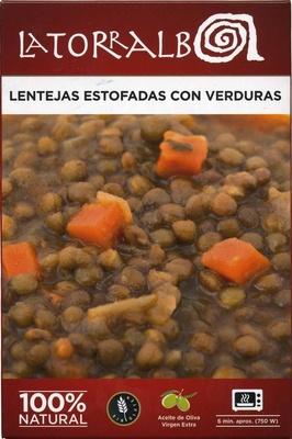 Lentejas estofadas con verduras - Produit