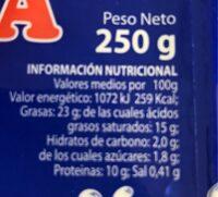 Burrata - Nutrition facts